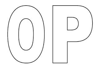Moldes de letras O e P