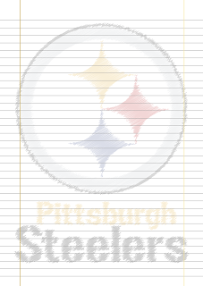 Folha Papel Pautado Pittsburgh Steelers rabiscado PDF para imprimir na folha A4