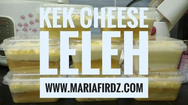 Kek Cheese Leleh Paling Mudah dan Sedap