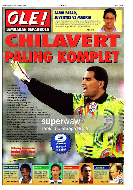JOSE LUIS CHILAVERT PARAGUAY 1998