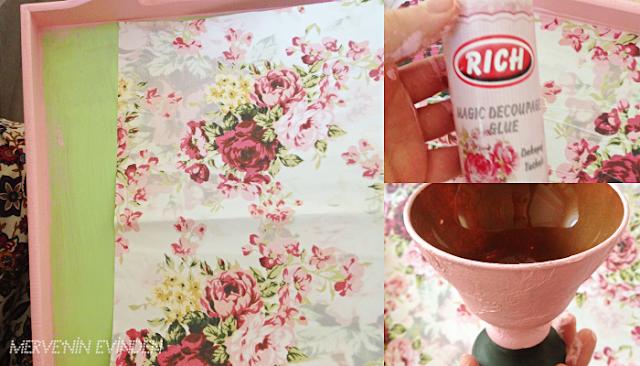 Ahşap boyama | Yeni ahşap tepsi boyama ve şekerlik