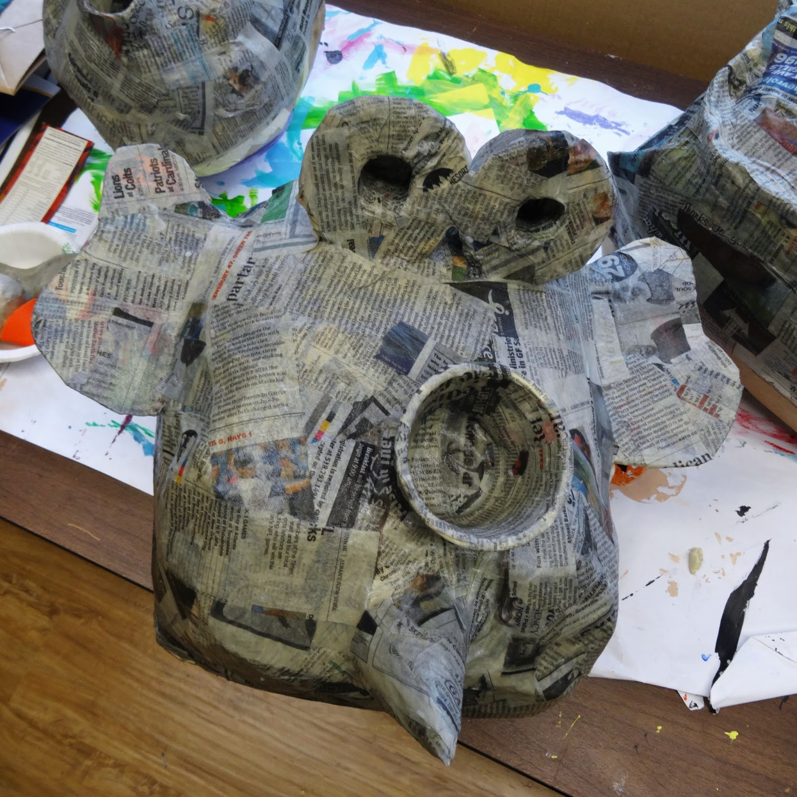 There 39 s a dragon in my art room papier mache masks part 1 for What can you paper mache