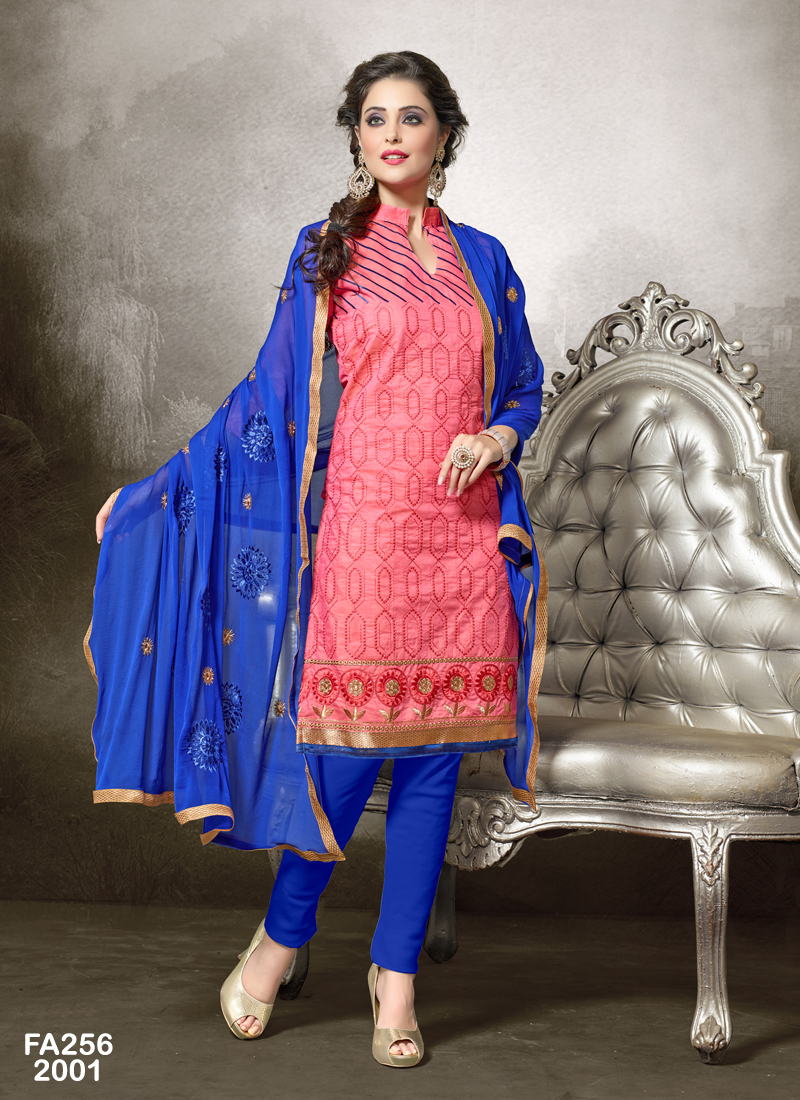 Pretty Lady 8 –  Chanderi Cotton Dress Material In Low Rate