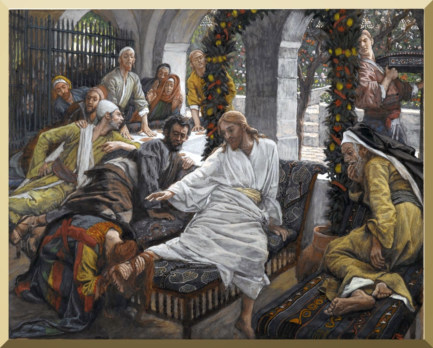 """The Ointment of the Magdalene"" -- by James Tissot"