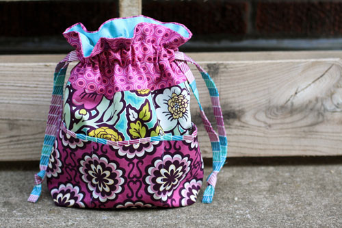 In Color Order: Lined Drawstring Bag Tutorials and Variations