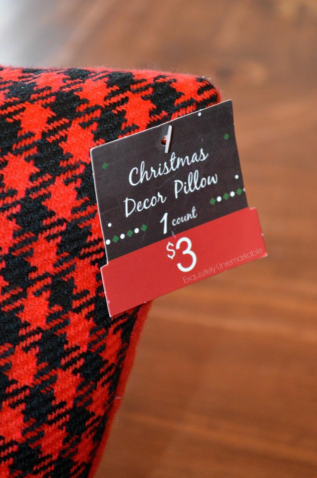 Target Dollar Spot Christmas Pillows