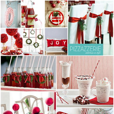 Peppermint Christmas Red & White Party Ideas