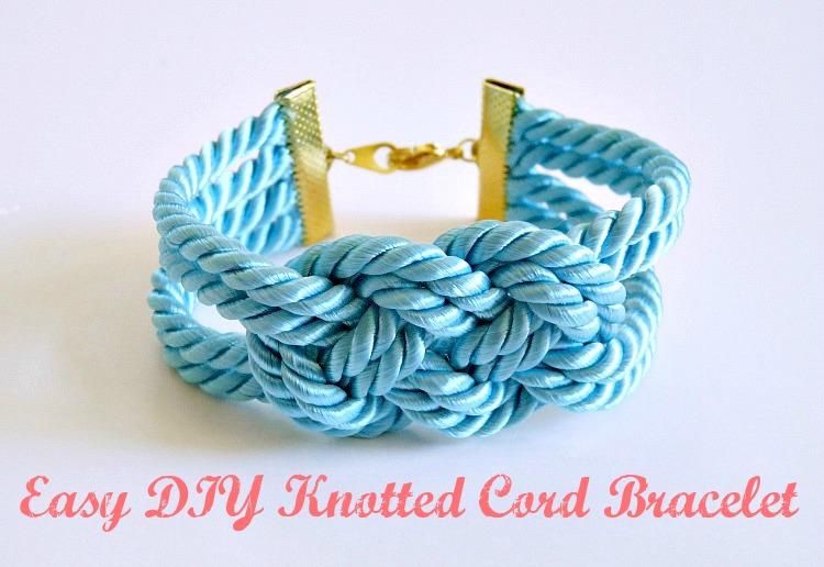 Nautical knot bracelet DIY