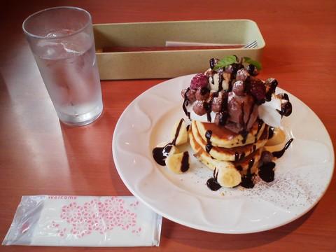 バースデーパンケーキ¥0-1 デニーズ津島店