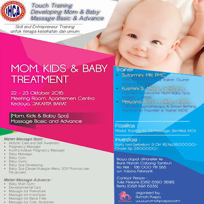 Touch Training: Developing Mom, Baby Massage and Spa Rumah Puspa