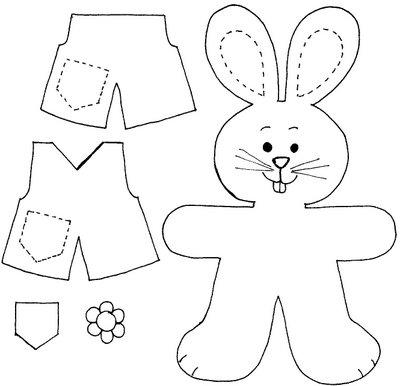 Coelhinhas e coelhinhos lindos com roupinhas para vestir