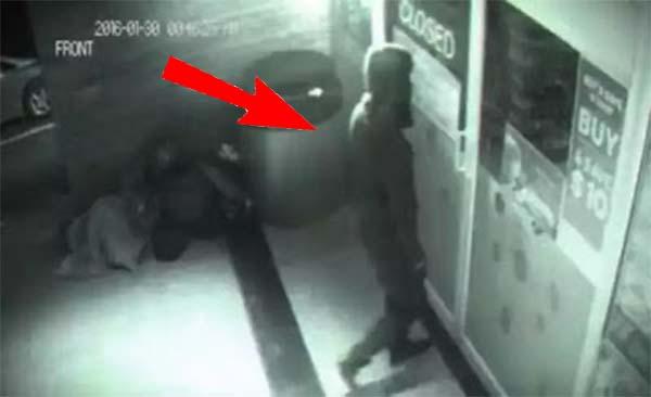 Mysterious Man Caught On Cam Walking Through A Glass Door