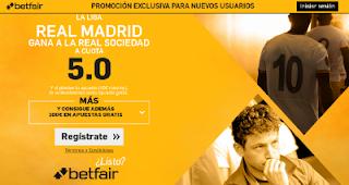 betfair supercuota 5 Real Madrid gana Real Sociedad Liga 21 agosto