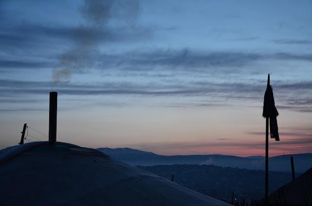 View of ger in Ulaanbaatar