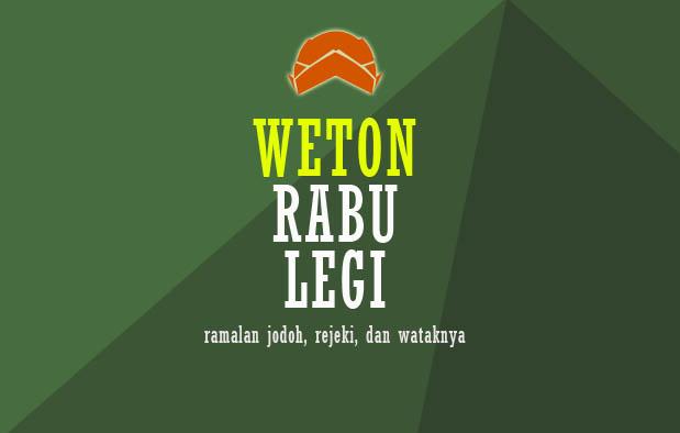 Weton Rabu Legi