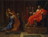 Esther before Ahasuerus by Nicolas Poussin - Religious Paintings from Hermitage Museum