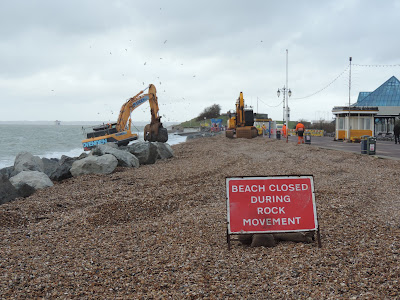 southsea seafront sea wall repairs pyramids