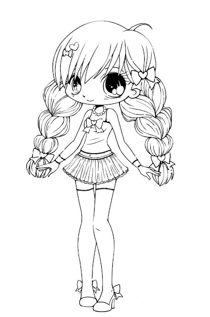 Free Coloring Pages Of Chibi Funny Girl