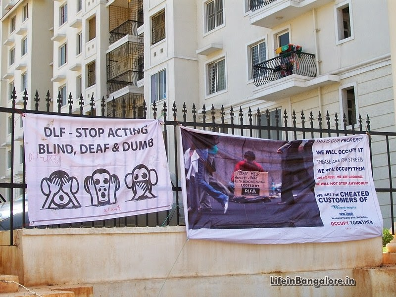 Bangalore Buyers Protest against Delay in Possession