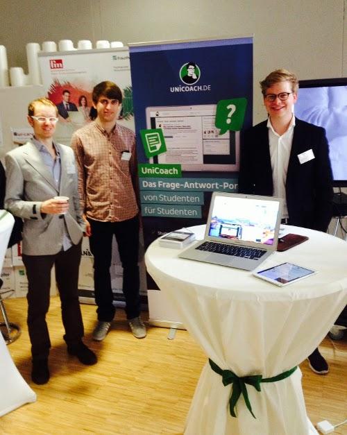 Das UniCoach-Team: Andreas, Mitarbeiter Felix und Benjamin