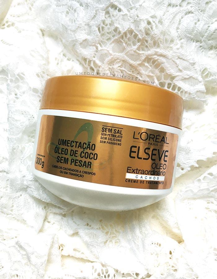 Resenha do creme de tratamento Elseve Óleo Extraordinário, indicado para cabelos crespos e cacheados