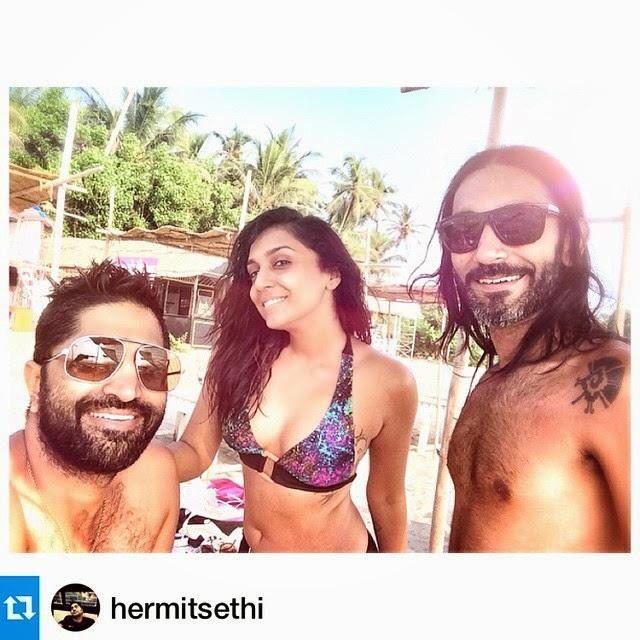 perfect beach buddies 😘 goa , beach , happiness , insta pic , insta noon , insta moment , my cr a z ies , boy z will bebo y , :), Shweta Salve Bikini Body Pics from Goa Beach