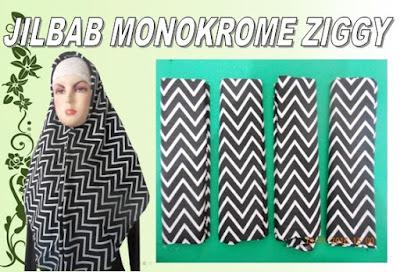 gambar dan pilihan warna jilbab monokrome ziggy
