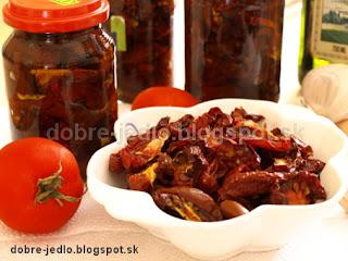 Domáce sušené paradajky - recepty