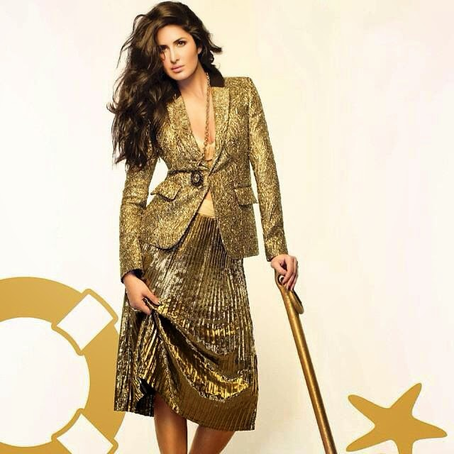 this just in. @vogueindia featuring beautiful  katrina kaif , wearing @emiliopucci jacket and our disco skirt in this months issue :)