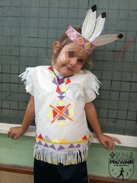 como hacer un disfraz de india casero