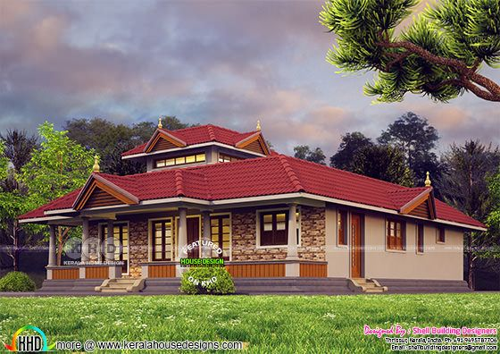 189 square yards 2 BHK Kerala style house
