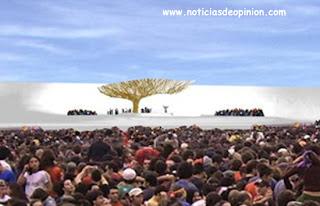 Visita del Papa (Jornada Mundial de la Juventud, JMJ 2011): árbol y agua micronizada para el calor