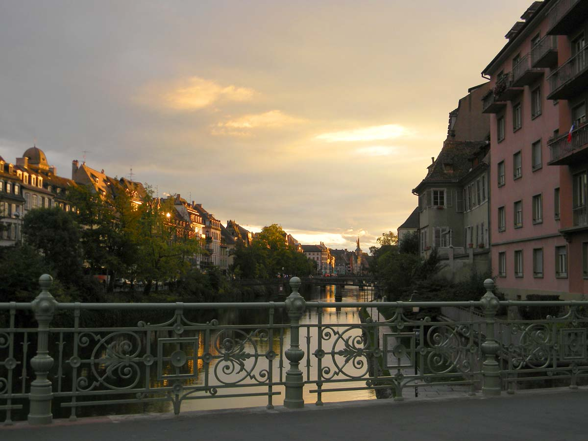 Strasbourg en automne, l'Ill