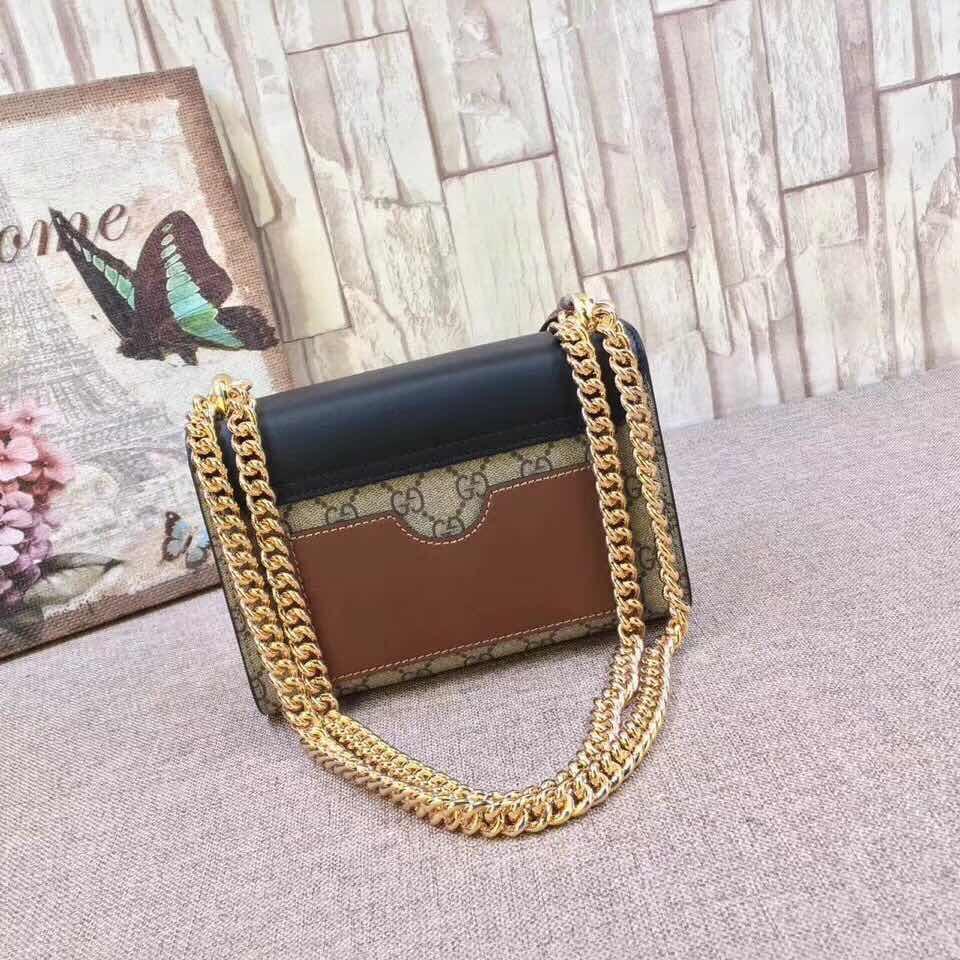 357bea827 GUCCI Padlock small GG shoulder bag Style 409487 KLQJG 9785. Screenshot on  Official Website: