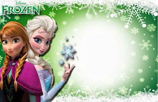 Para hacer invitaciones, tarjetas, marcos de fotos o etiquetas, para imprimir gratis de Fiesta de Frozen Fever.