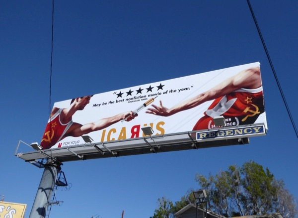 Icarus documentary consideration billboard