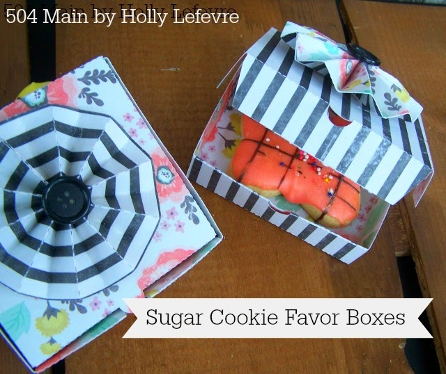 sugar cookie favor boxes from 504 main