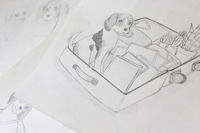 Retrato de mascota, boceto de retrato de mascota, retrato personalizado, retrato por encargo, ilustración de mascota, ilustrador de mascotas