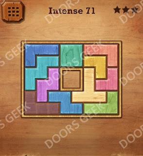 Cheats, Solutions, Walkthrough for Wood Block Puzzle Intense Level 71