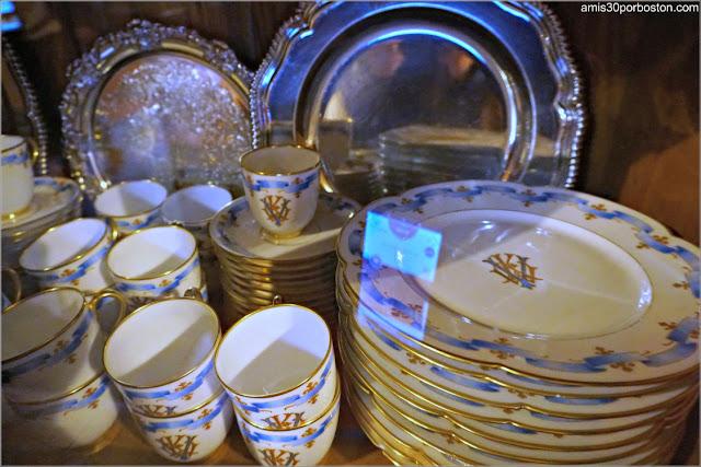 Vajilla y Plata de Marble House, Newport