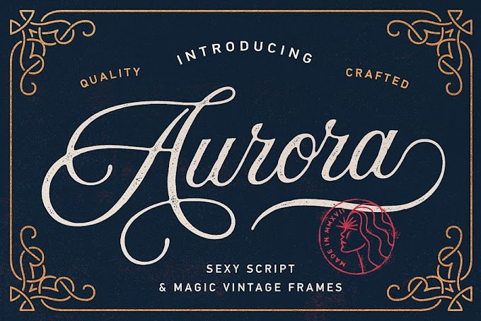 Vintage Font Excellent For Wedding invitations, Romantic Cards etc