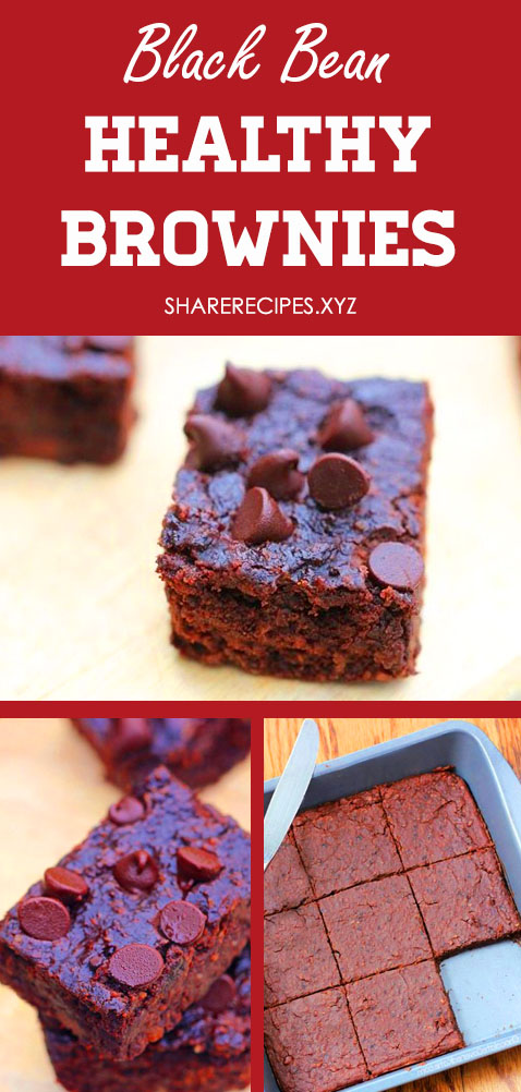 Healthy Brownies - Healthy dessert recipes, Black bean brownies, Healthy cookies, Low calorie desserts, Vegan brownies, Avocado brownies. Easy brownie with Black Bean, Whole Wheat, No Sugar, Low Calorie, Applesauce, Clean Eating and Gluten Free. #healthyishbrownies #healthybrownies #blackbeanbrownies #lowcaloriedesserts