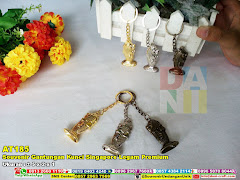 Souvenir Gantungan Kunci Singapore Logam Premium