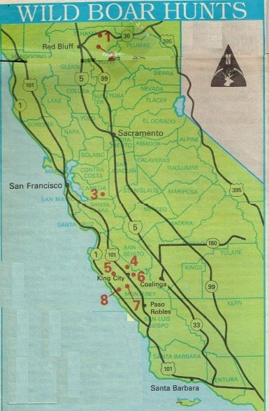 where to hunt california, hunting fishing maps and reports oregon and california
