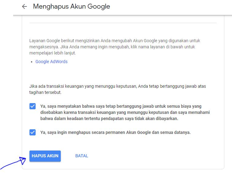 Cara Menghapus Akun Google Atau Gmail Secara Permanen Mediasiana Com Media Pembelajaran Masakini