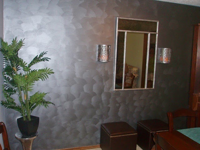 ideas for metallic paint on walls