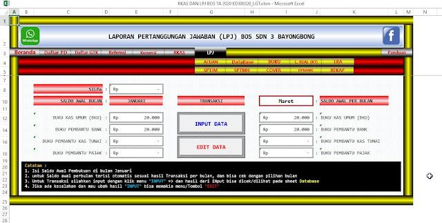 Aplikasi RKAS dan LPJ BOS 2020 Full Versi