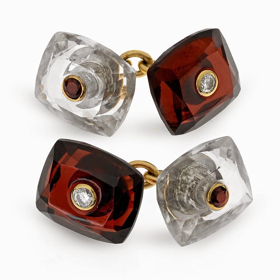 http://www.scullyandscully.com/JEWELRY/Cufflinks+Studs/Traditional/18k+Gold+Garnet+and+Clear+Crystal+Cufflinks+with+Diamonds.axd#.VIant2fLi-0