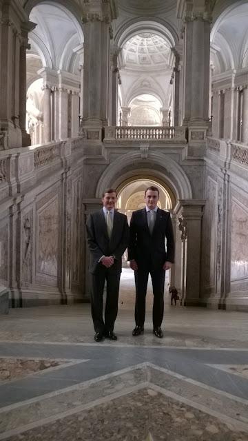SS.AA.RR. los Duques de Calabria y Noto en el Palacio Real de Caserta (Campania, Italia)
