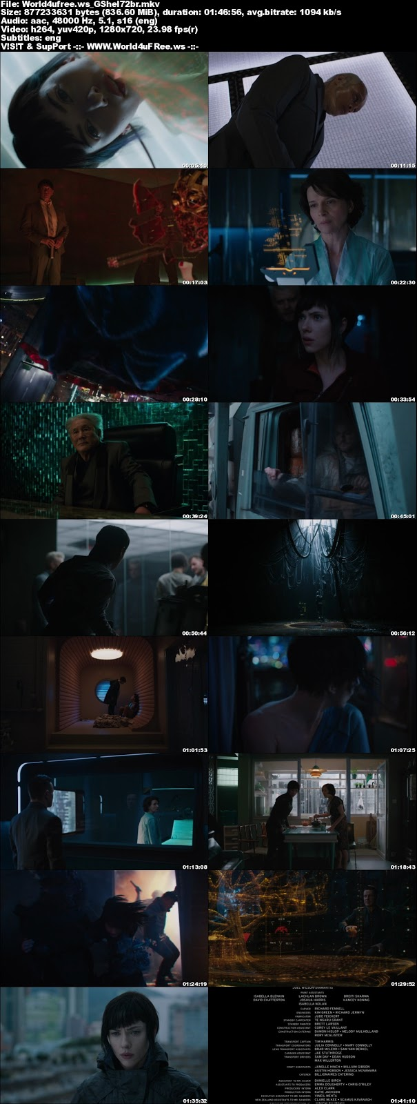 Ghost in the Shell (2017) Hindi 480p 720p BluRay Dual Audio - Film4me